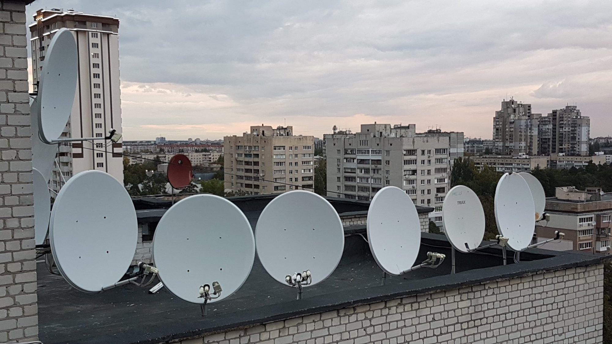 Спутниковое ТВ в городах
