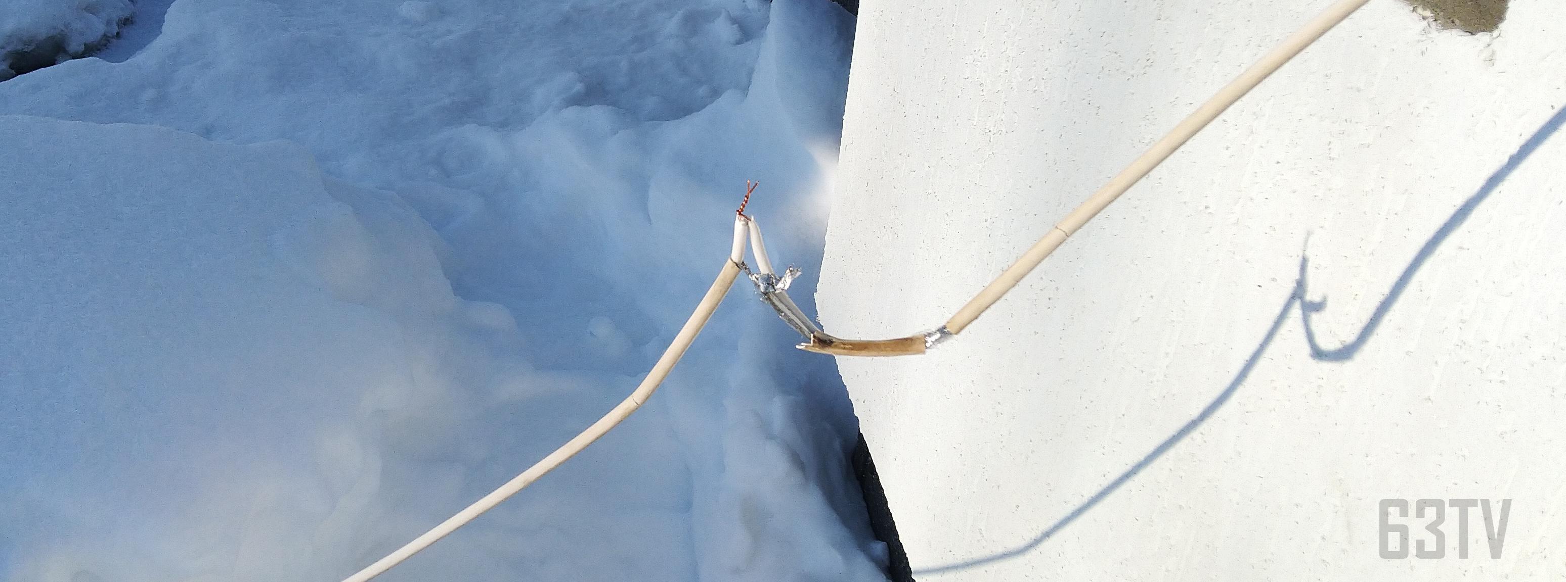 скрутка и лопнувший кабель